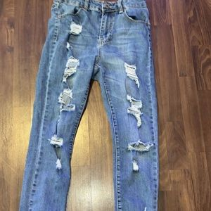 blue notes ripped jeans